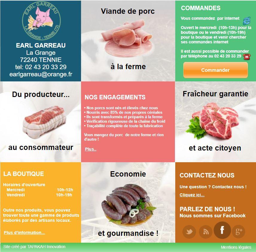 Page accueil site Garreau